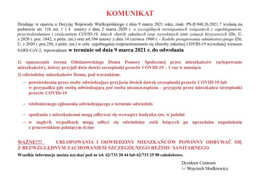 Komunikat ODPS
